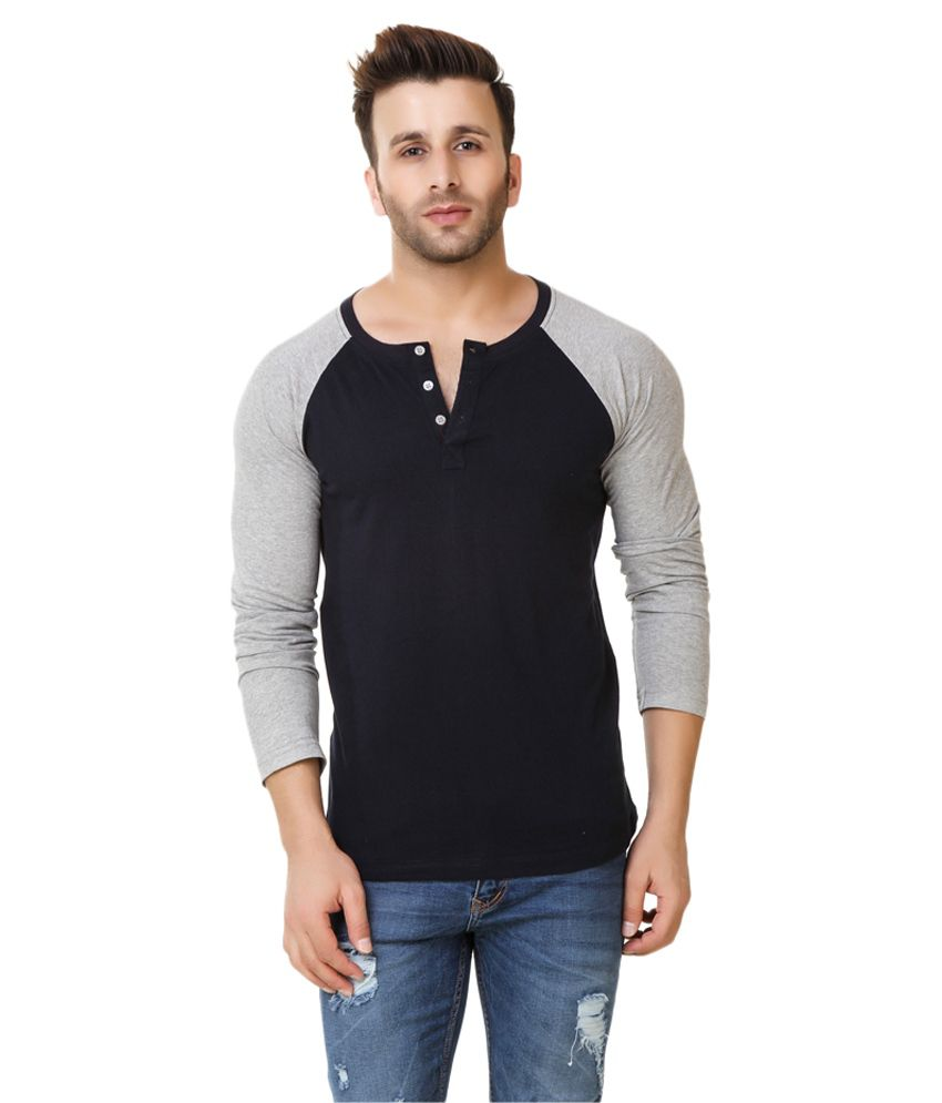Fabstone Collection Black Henley T-Shirt