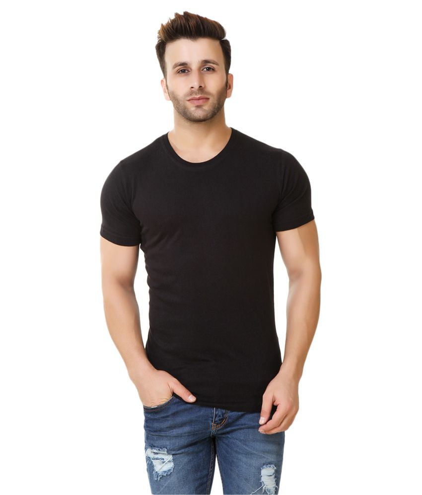 Fabstone Collection Black Round T-Shirt