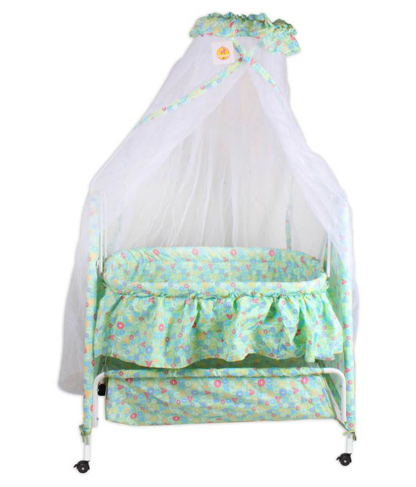 Baybee Sleep-Well Bassinet Cradle (Green)