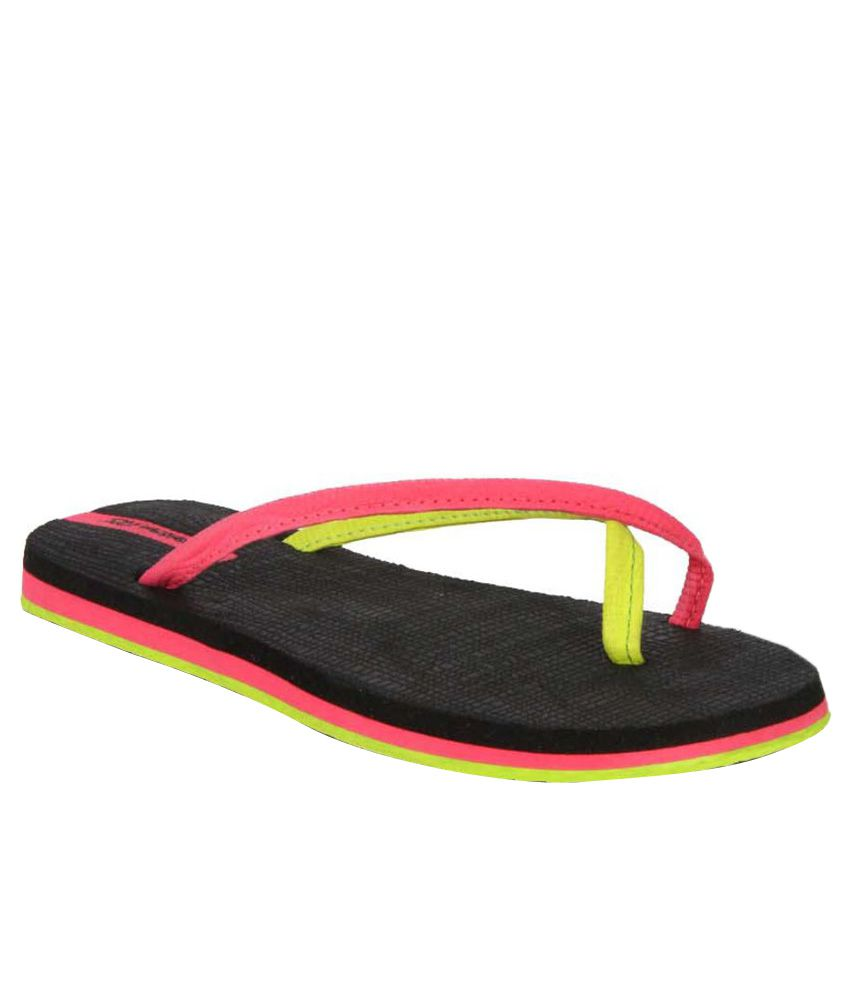 Sole Threads Pink & Black Flip Flops