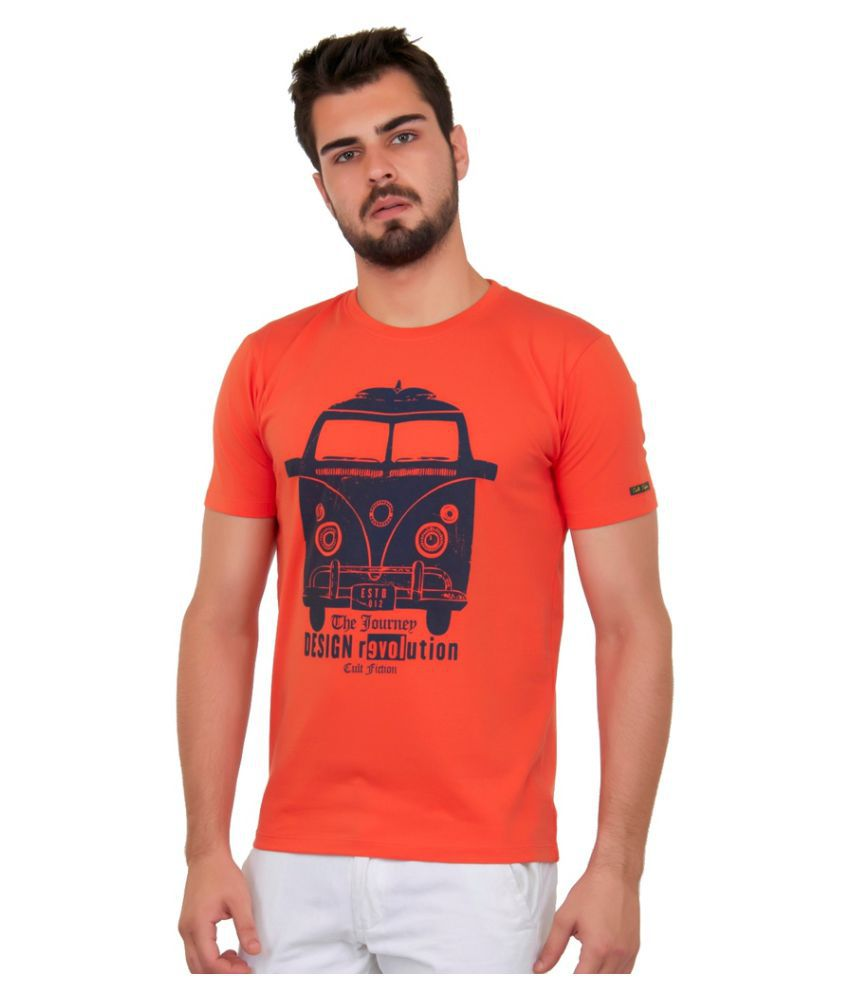Cult Fiction Orange Round T-Shirt