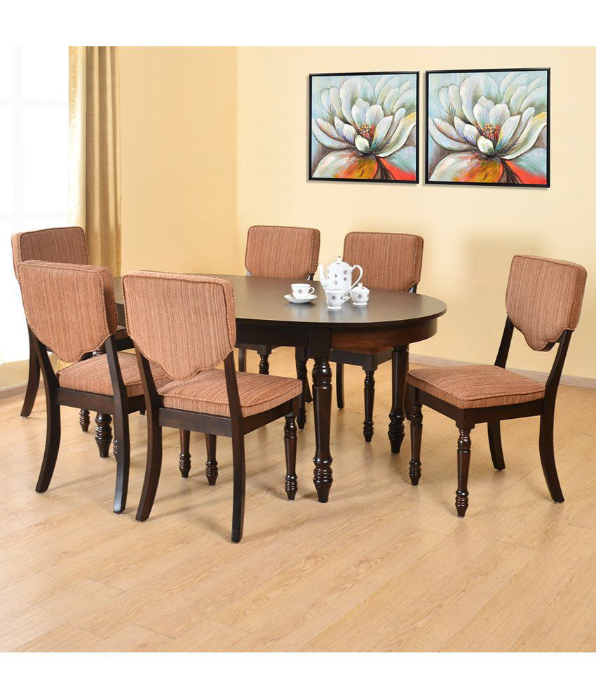 Home By Nilkamal Isabella Solid Wood 6 Seater Dining Set Buy Home By Nilkamal Isabella Solid