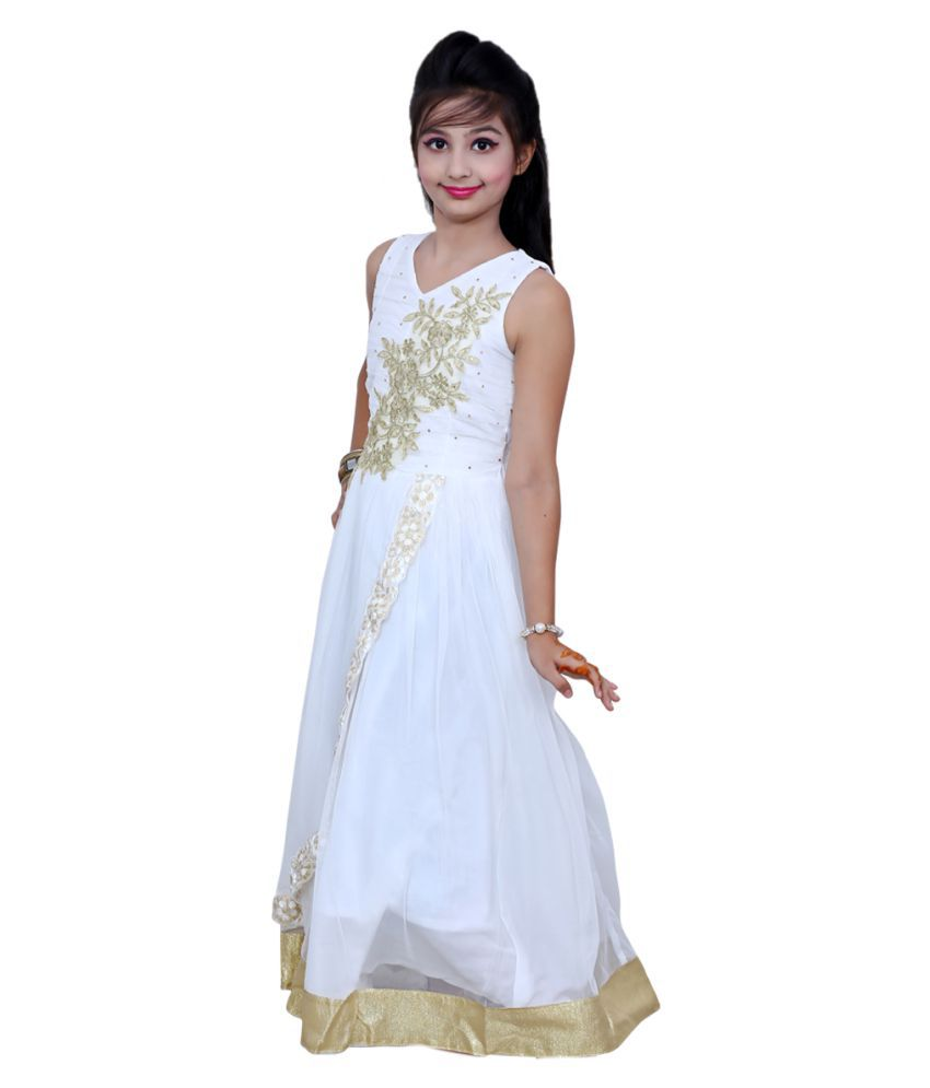 Ishika Garments White Gown - Buy Ishika Garments White Gown Online at Low  Price - Snapdeal fdb36dce0