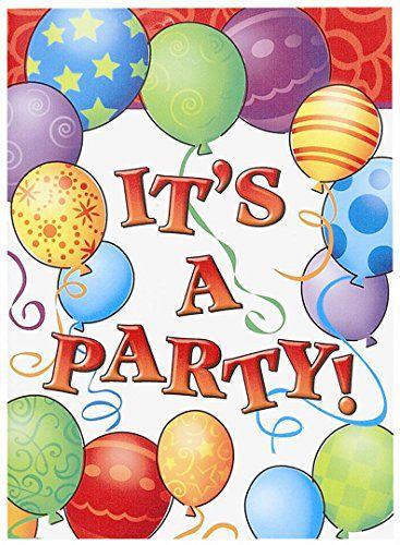 BIRTHDAY BALLOONS INVITATIONS