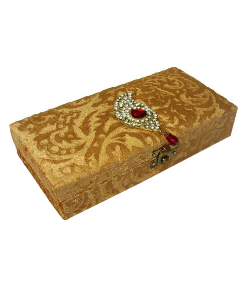 Weddingpitara Beige Jewellery Box