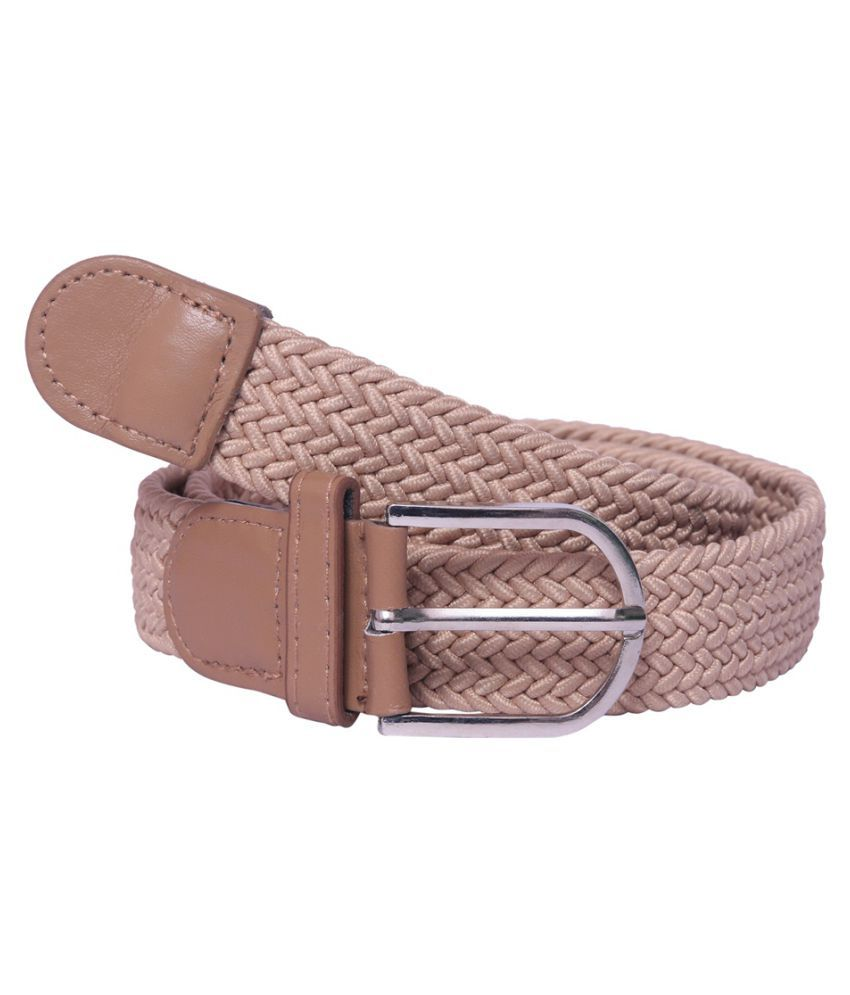 Daller Beige Faux Leather Casual Belts
