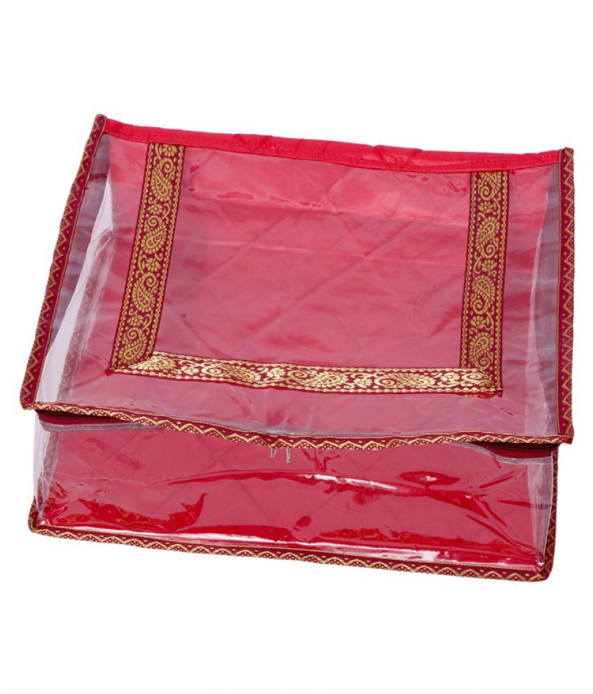 Kuber Industries Red Saree Covers - 1 Pc