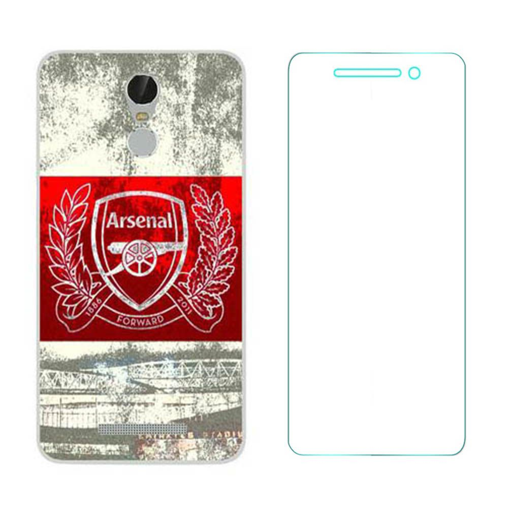 Lenovo Vibe K5 Note Printed back cover  with Ultra Clear Tempered Glass Combo by MOCELL