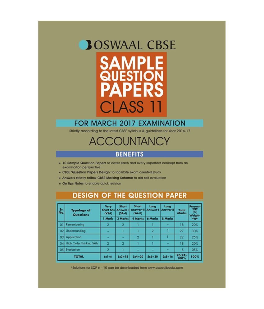 oswaal cbse sample question papers for class 11