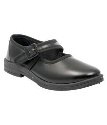 Pollo Black School Shoes