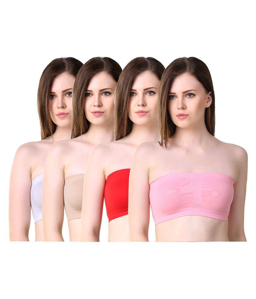 Anixa Multi Color Cotton Bras