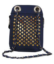 Estoss Blue Faux Leather Sling Bag