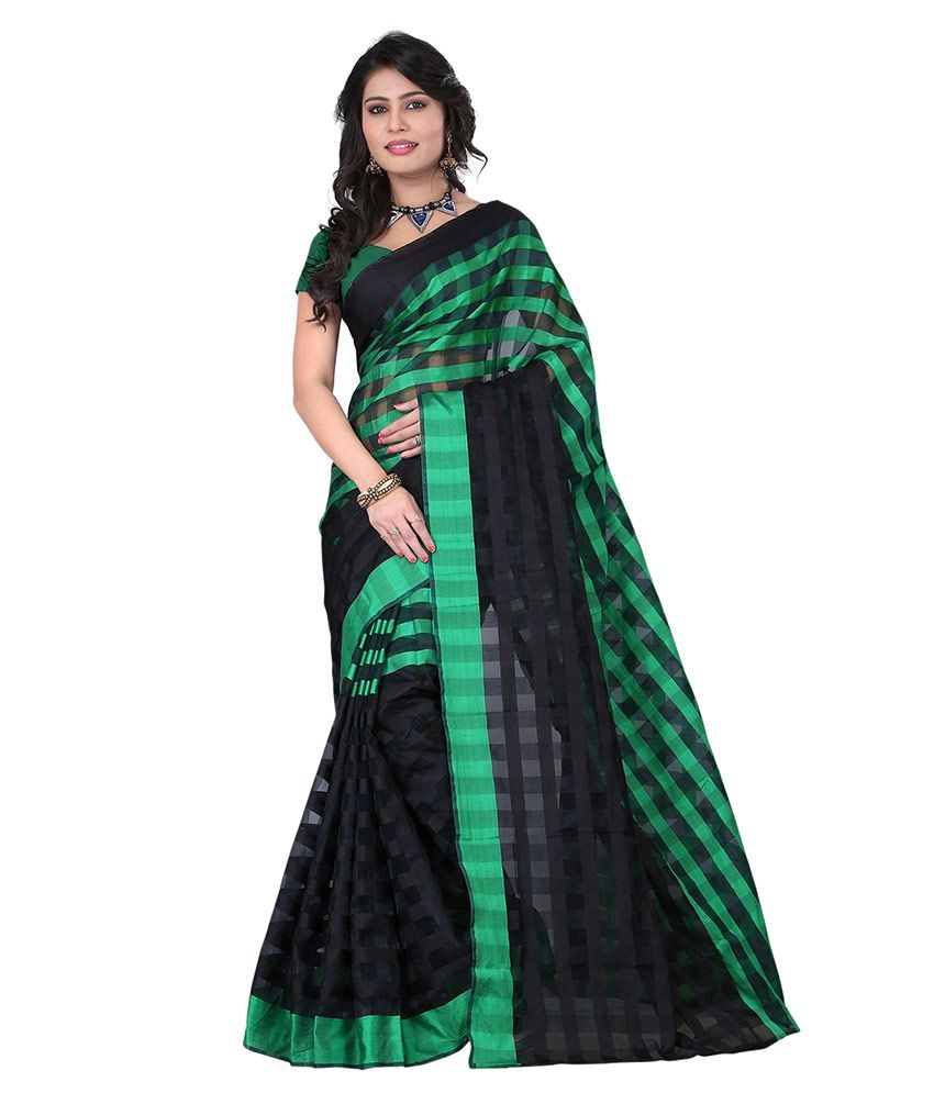 Shopping Point Green Tissue Saree