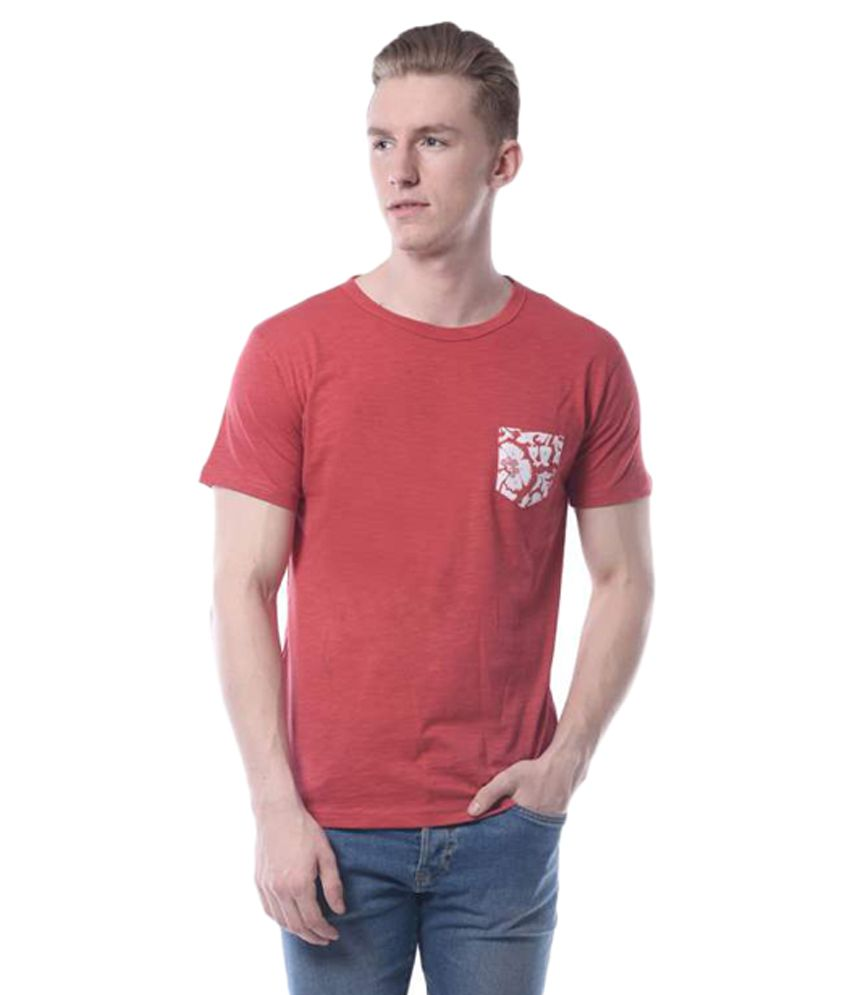 Rags Red Round T-Shirt