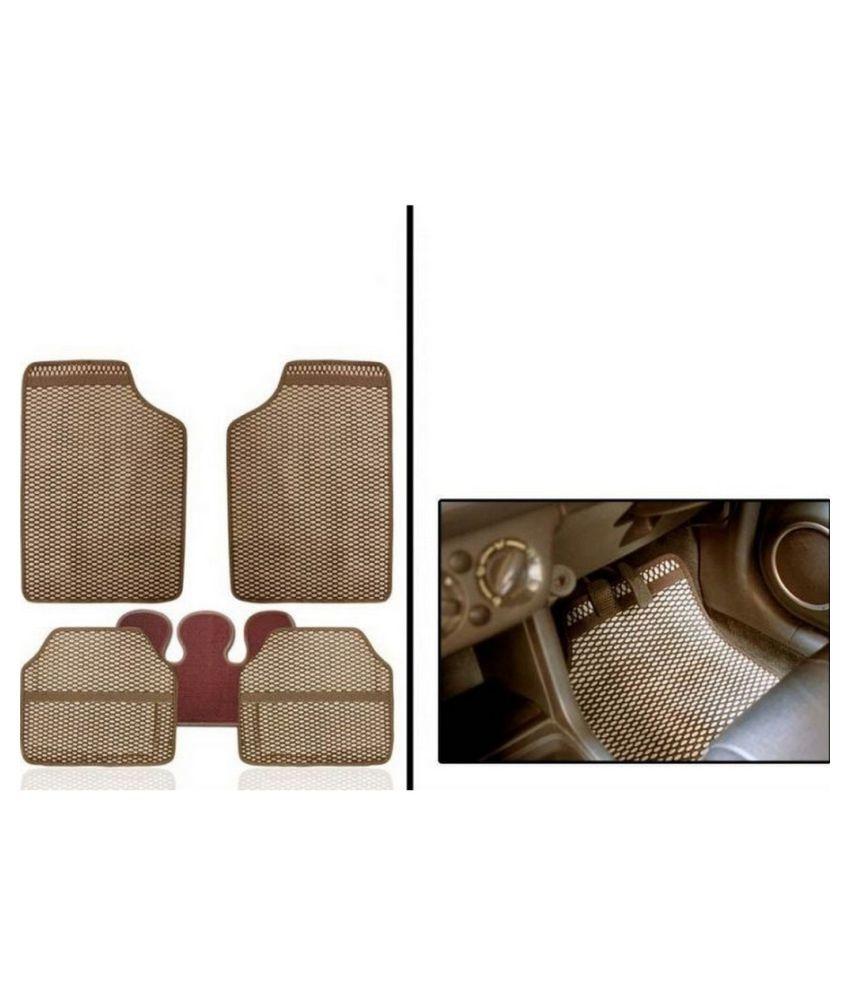 U E Beige Car Floor Mats - Set of 5