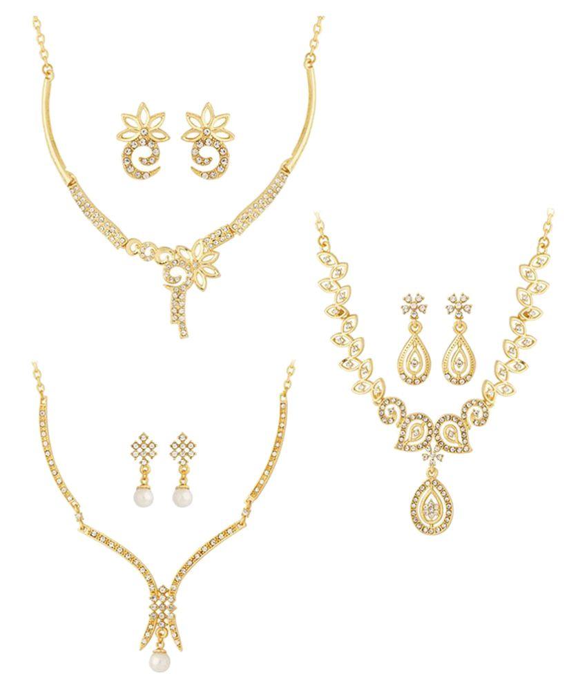 Voylla Gold Necklace Set Combo
