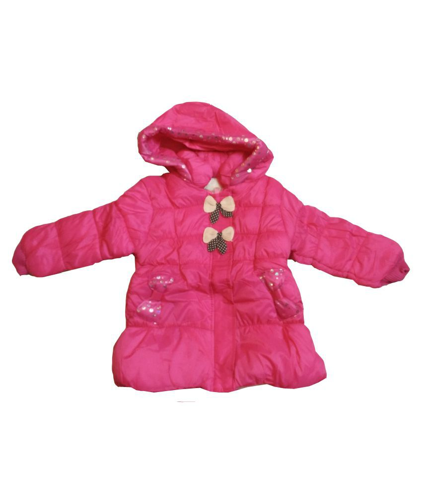 Assent Store Pink Polyester Jacket for Girls