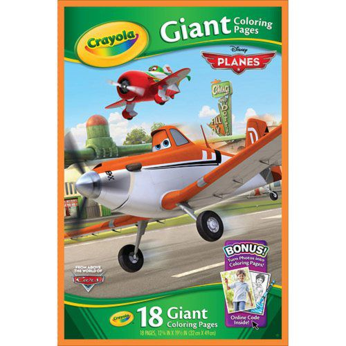 Crayola Giant Coloring Pages Disney Pixar Planes Coloring Book 18