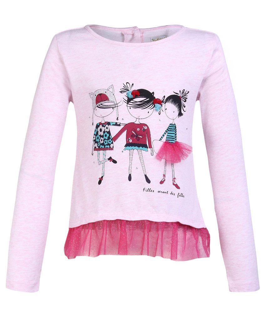 Nauti Nati Pink Crew Neck Sweatshirt