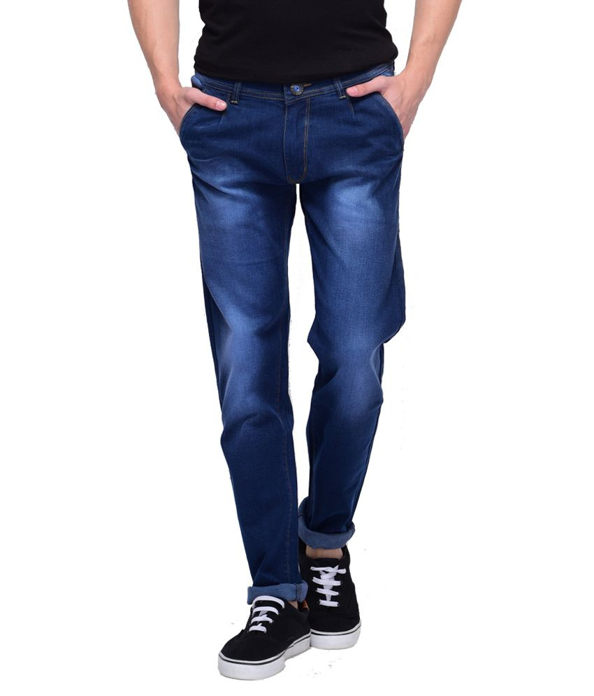 Fbm Blue Slim Fit Jeans