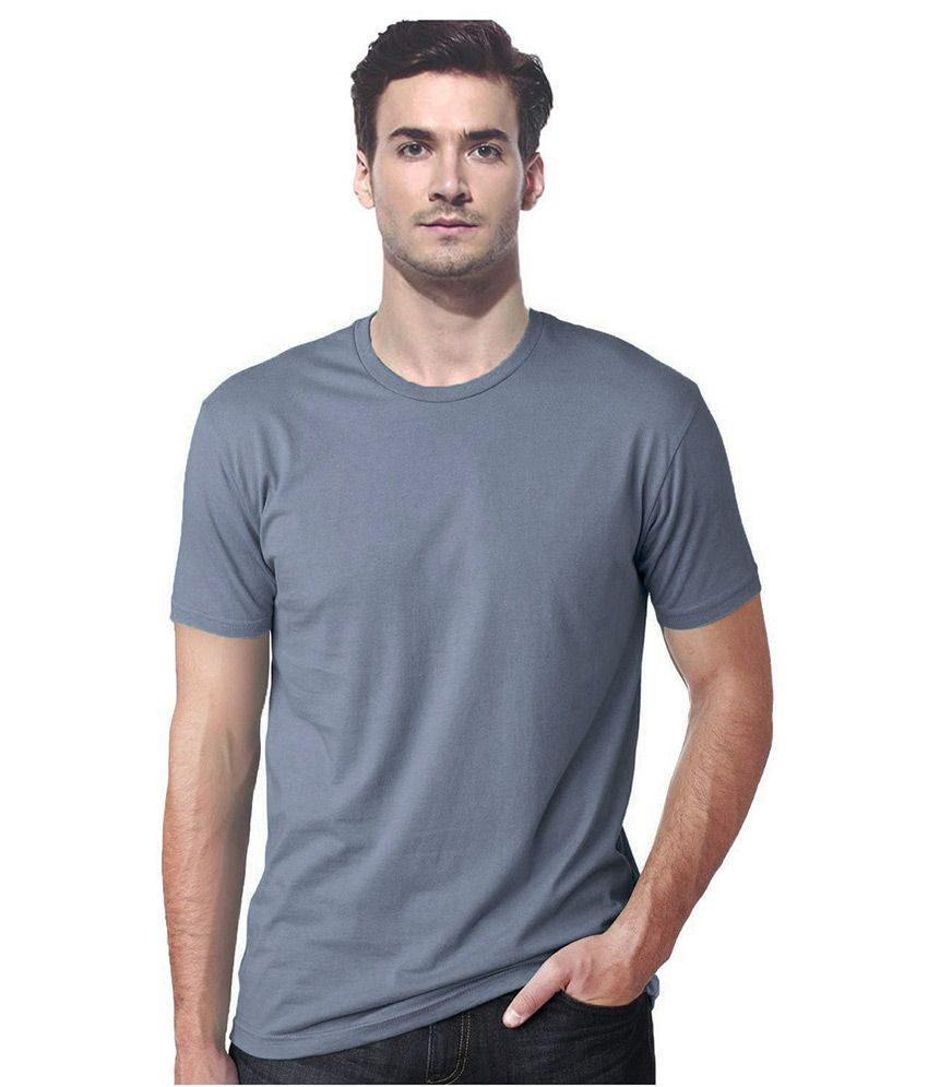 Gallop Grey Cotton T-Shirt