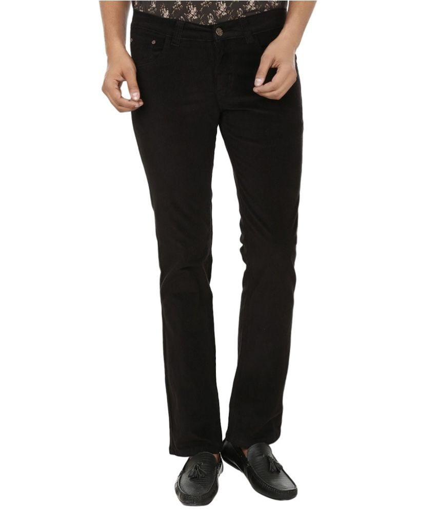 Knock Out Black Regular Fit Jeans