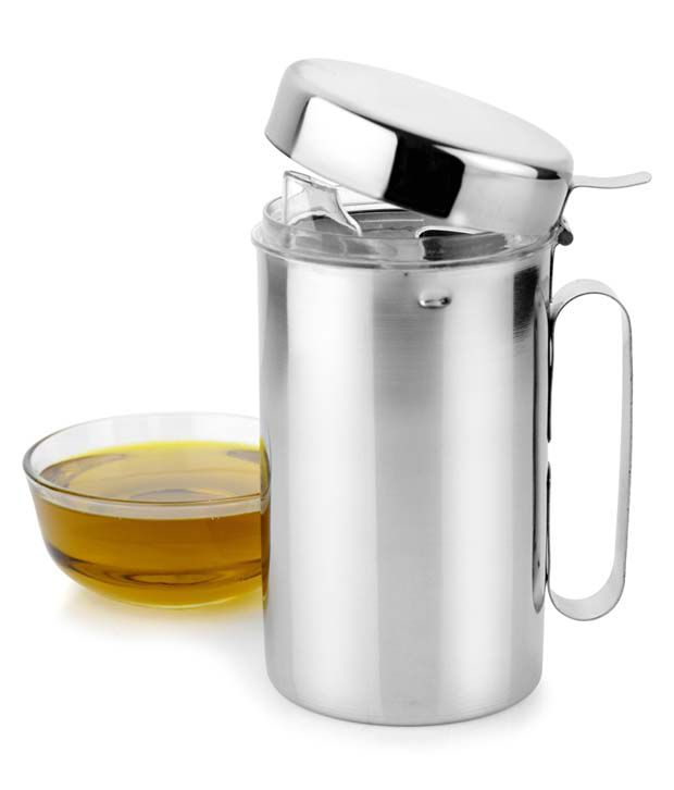maru 500ml silver stainless steel oil dispenser buy online at best price in india snapdeal. Black Bedroom Furniture Sets. Home Design Ideas