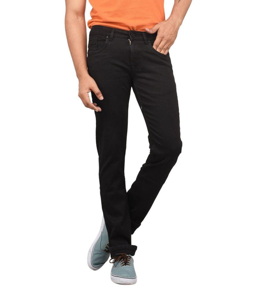 Om Fashion Black Slim Fit Jeans
