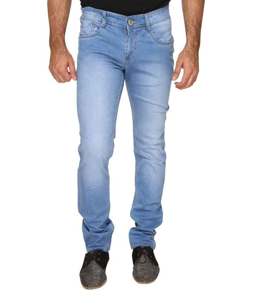 Om Fashion Blue Slim Fit Jeans