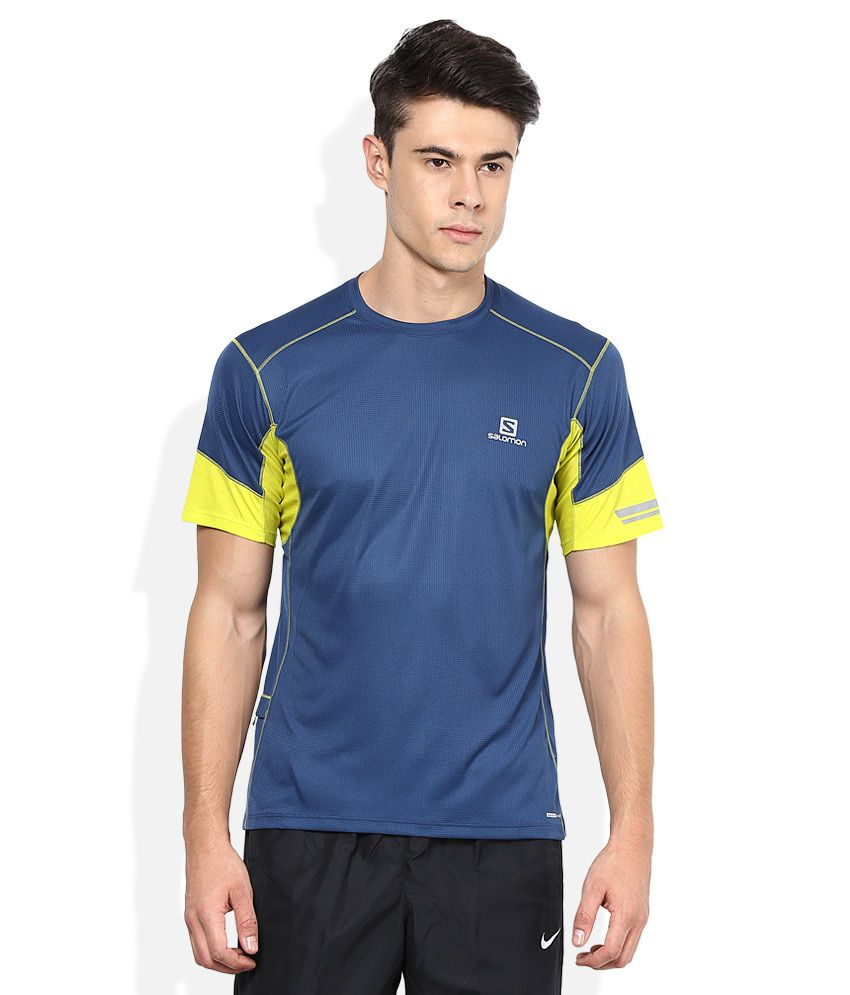 Salomon Blue Polyester T Shirt
