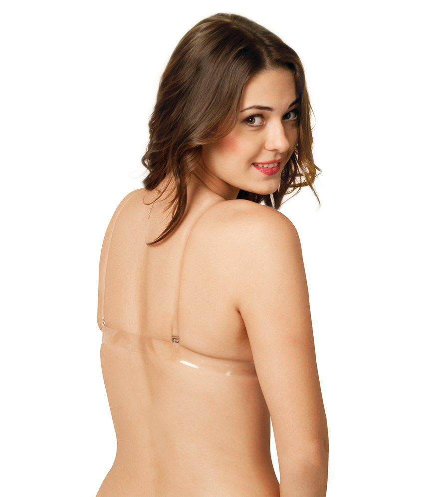 c79b8e3e76de0 ... Sona Women S Backless Light Padded Bra With Transparent Back Strap