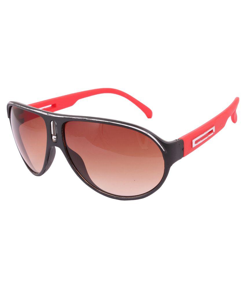 Sushito Black Frame Aviator Sunglasses