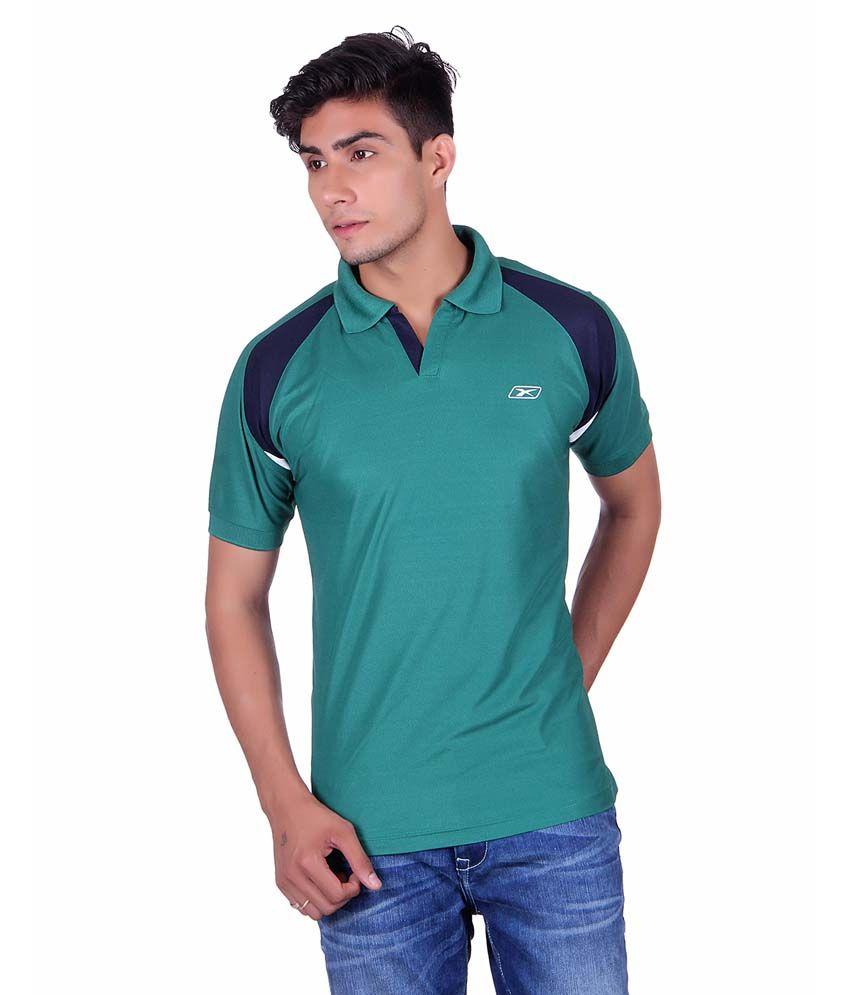 Ex10 Green Polyester Basketball T-shirt