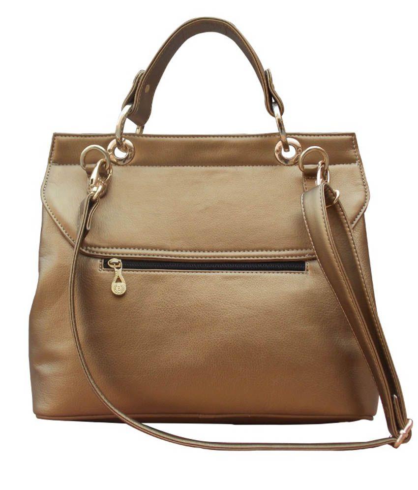Ekora Brown PU Satchel Bag
