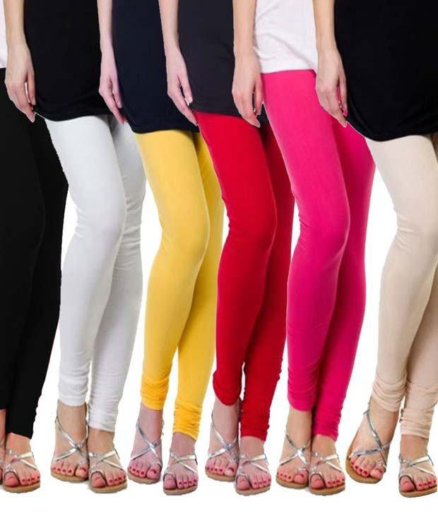 Famaya Combo Of 6 Leggings For Girls