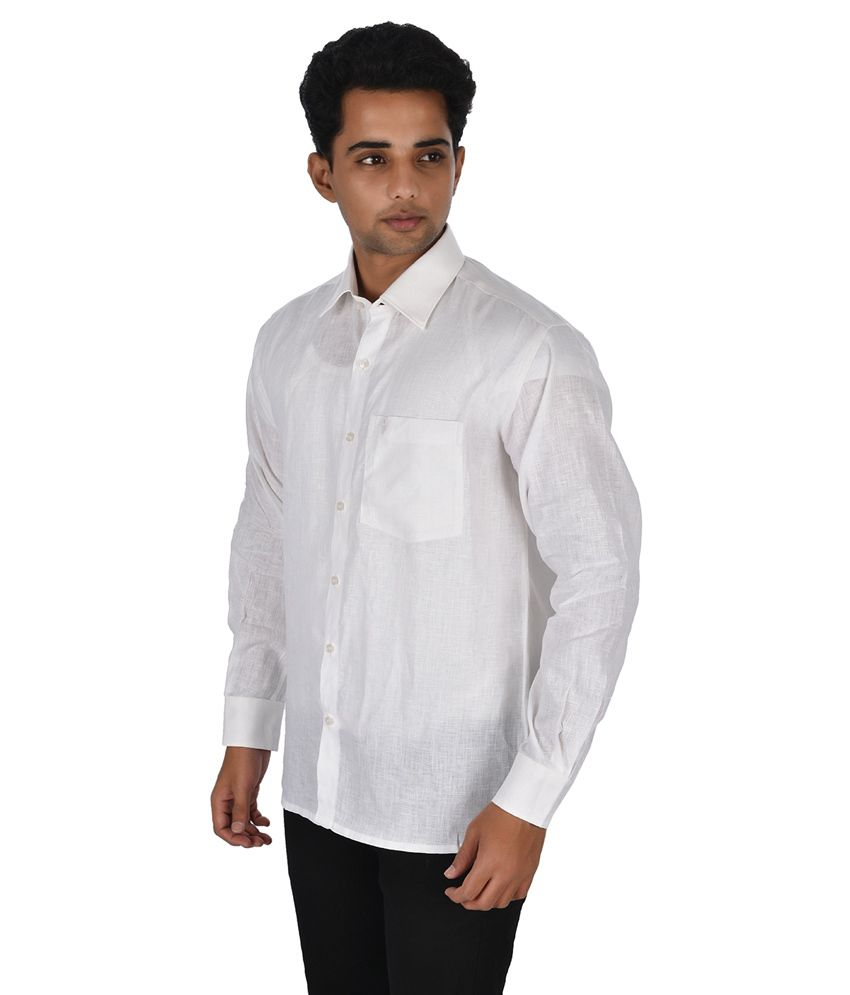 87e1be31 Ramraj White Casual Shirt - Buy Ramraj White Casual Shirt Online at ...