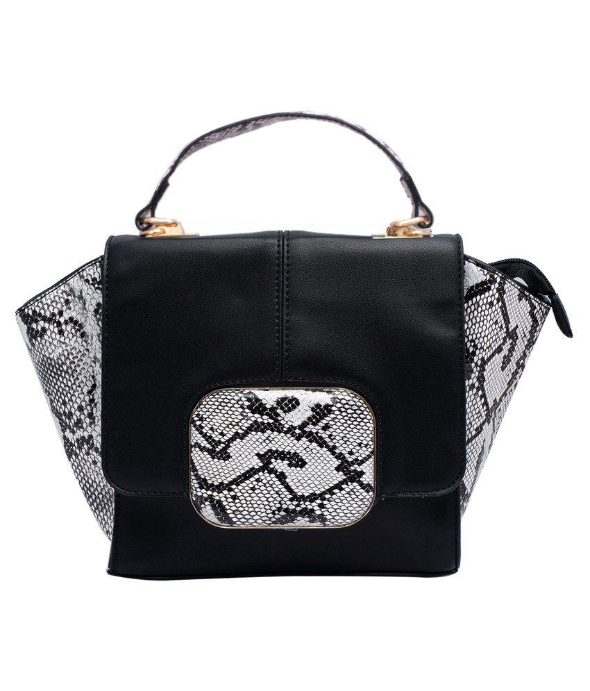 Super Drool Black Clasp Sling Bag