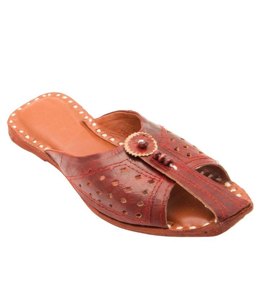 Vinayak Collection Brown Slip-Ons