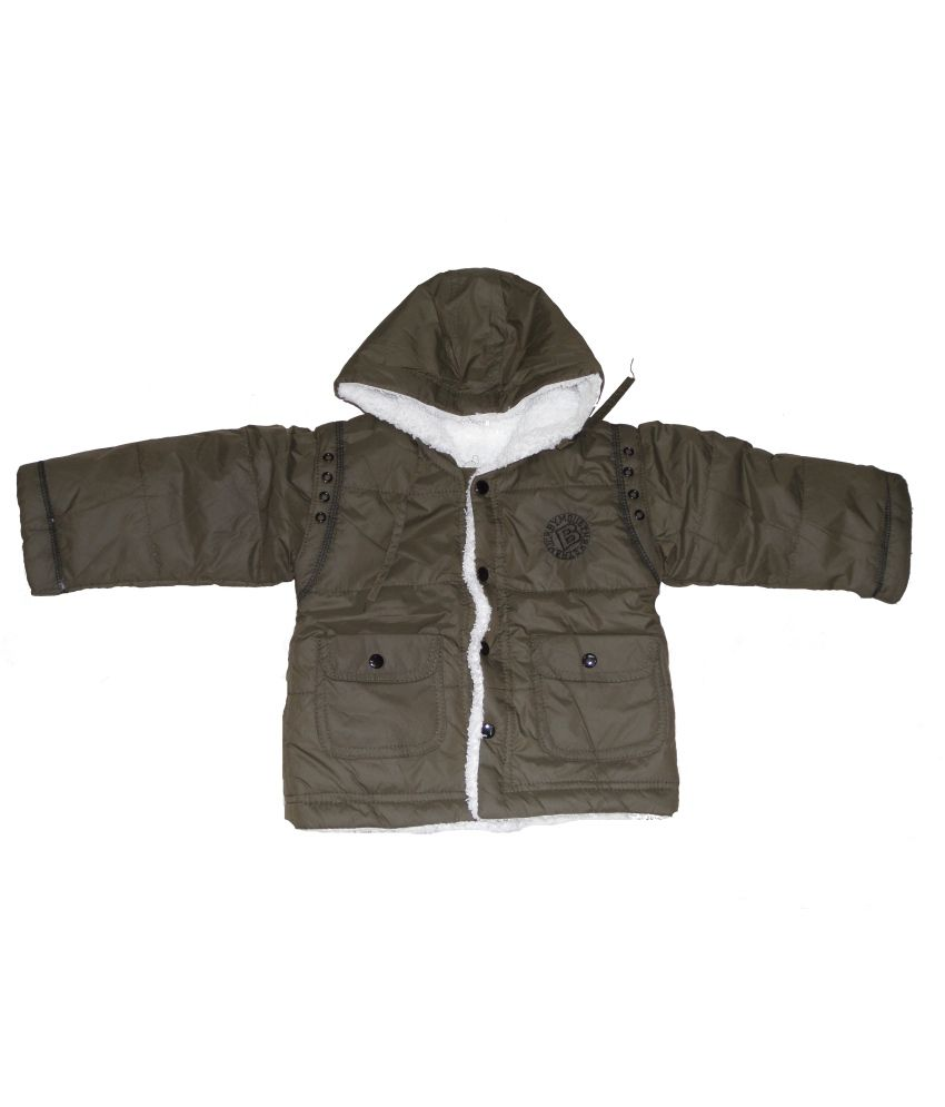 Dear Daughter Brown Fleece Denim Jacket