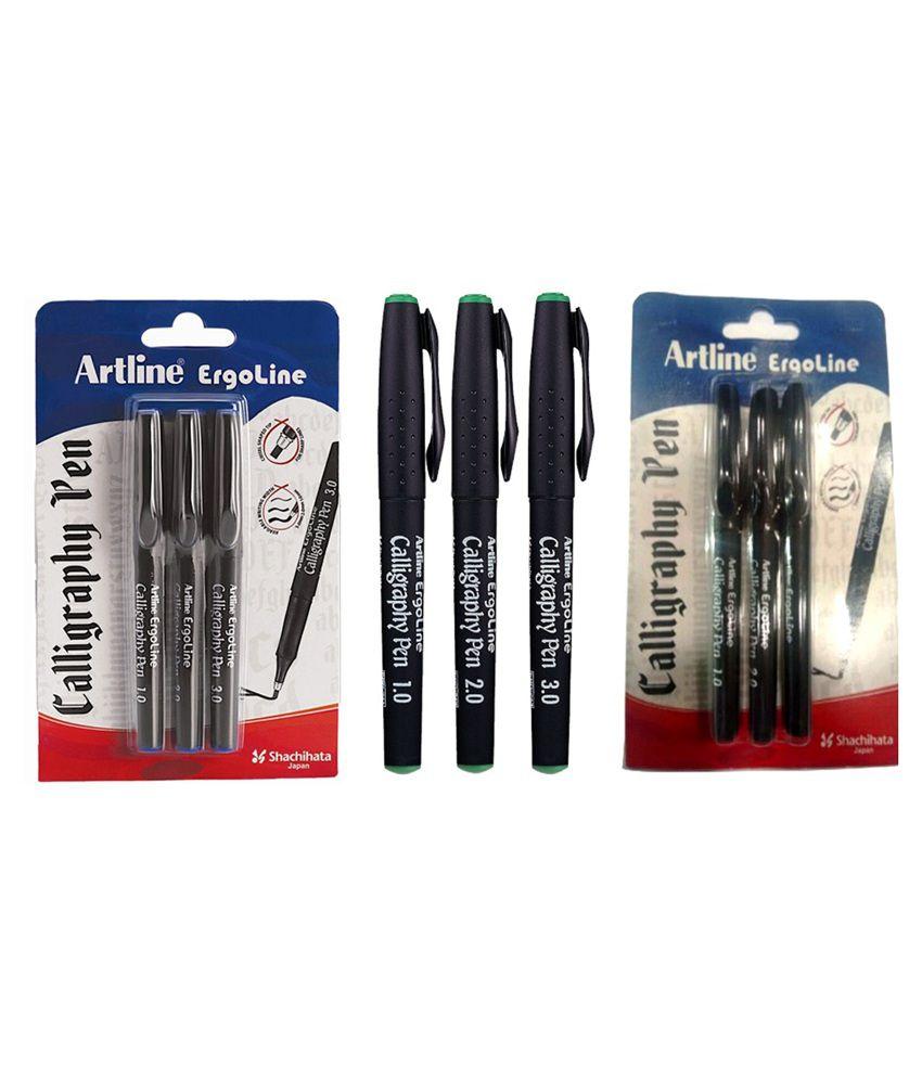 Artline Calligraphy Pen Set Of 3 Buy Online At Best