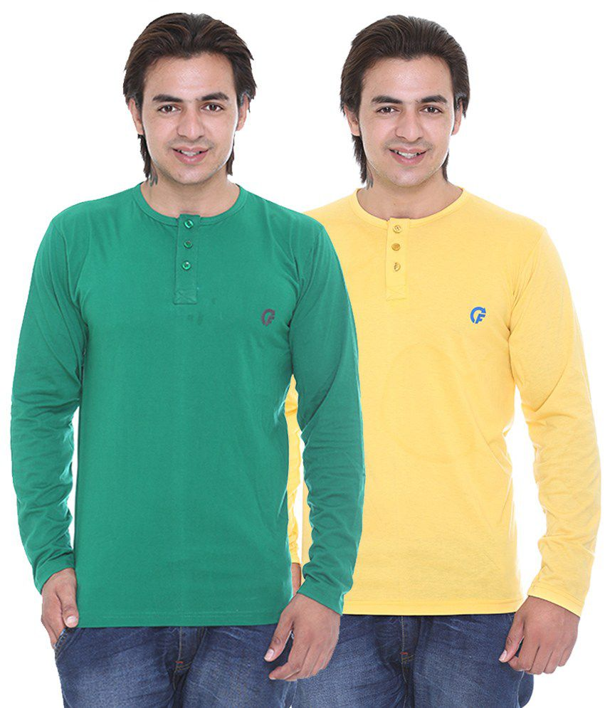 Cee - For Multicolour Cotton T-Shirt - Pack Of 2