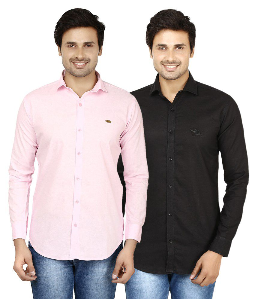 Style Acquainted People Multicolor Casual Shirt - Pack Of 2