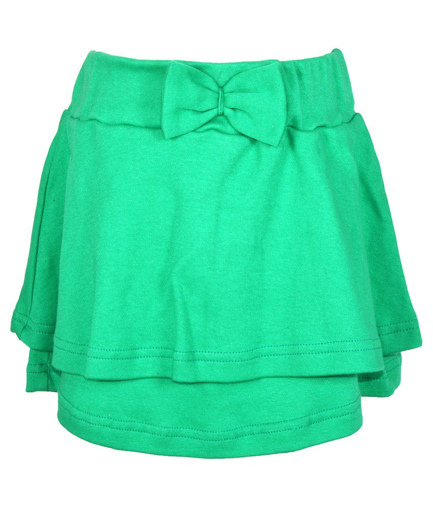 Lil Orchids Green Skirt
