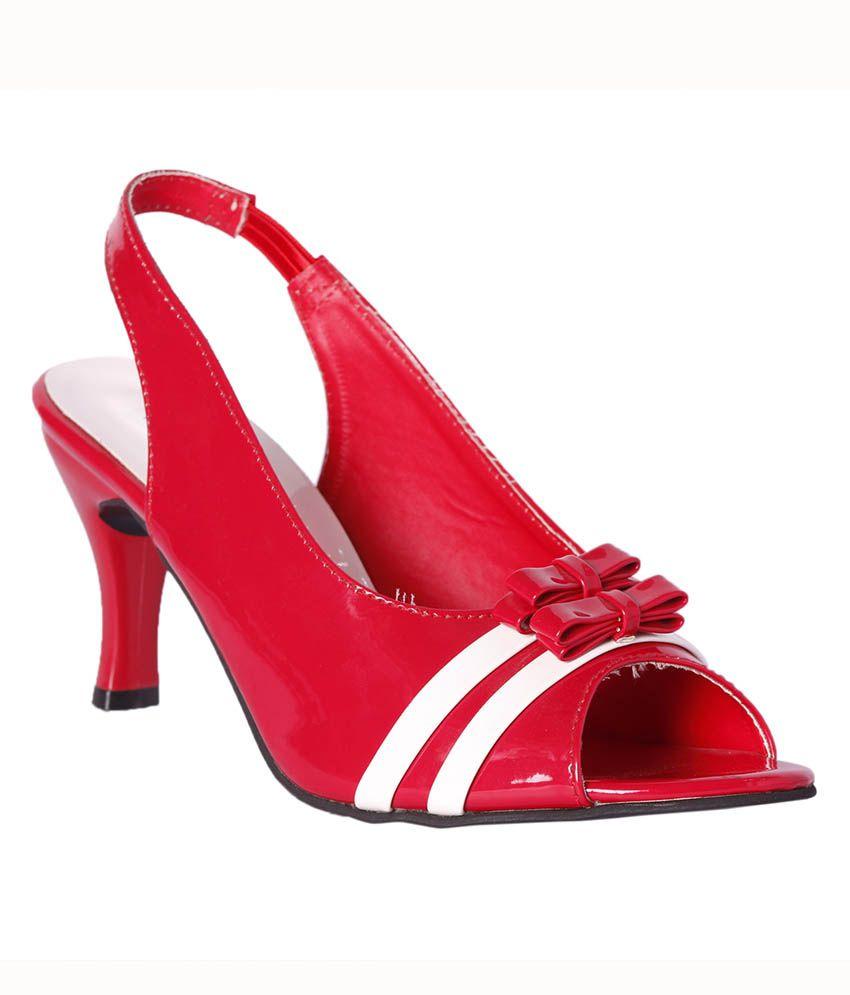 Pantof Red Kitten Heels