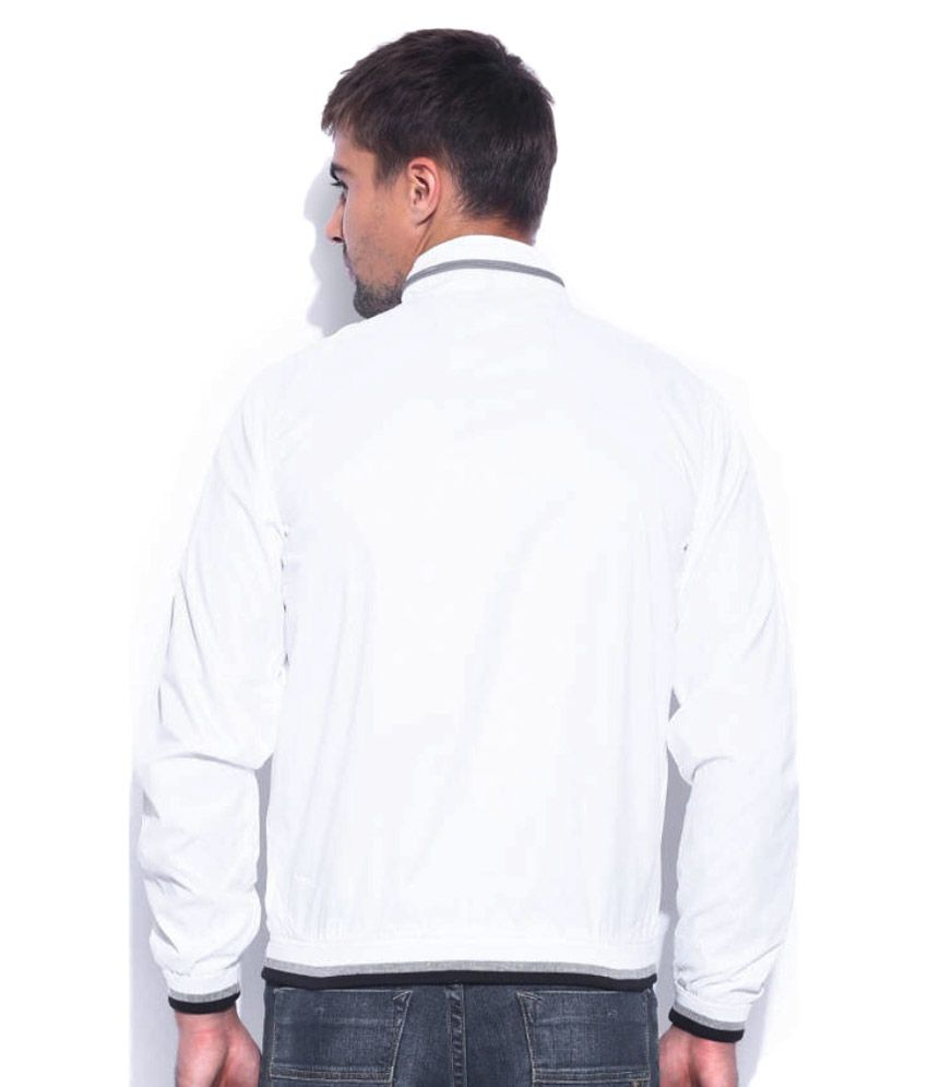 d3a1bf70f Pepe Jeans White Full Sleeves Polyester Jacket
