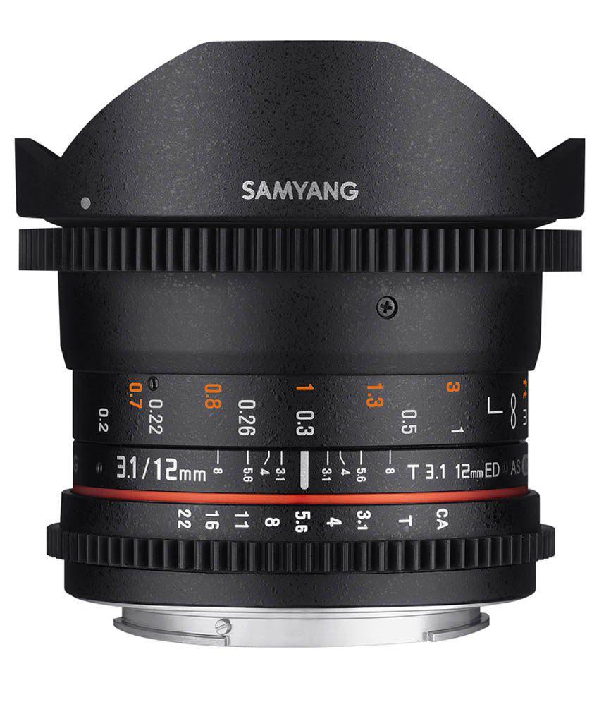Samyang 12mm T3.1 VDSLR FISH-EYE Canon EF Lens