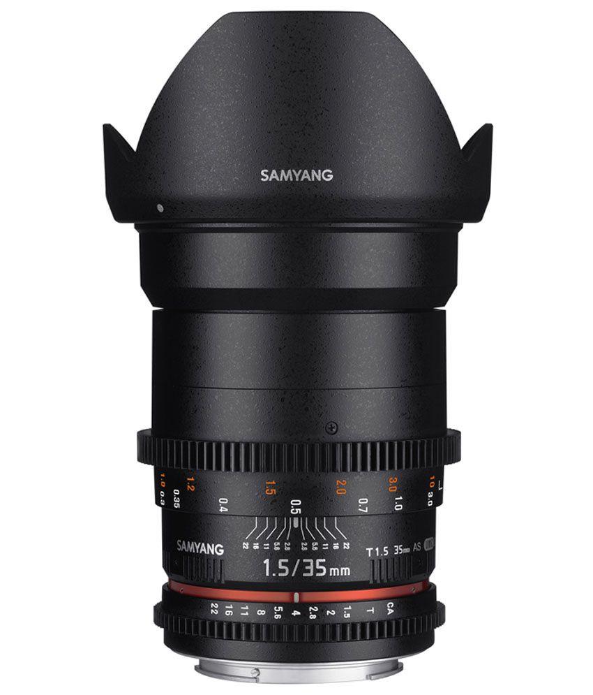 Samyang 35mm T1.5 VDSLR II Canon EF Lens