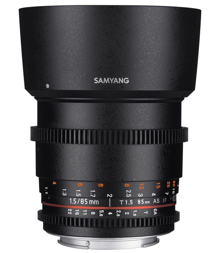 Samyang 85mm T1.5 VDSLR II Sony Lens