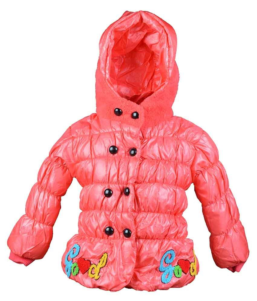 Baby Doll Peachpuff Padded Jacket For Girls