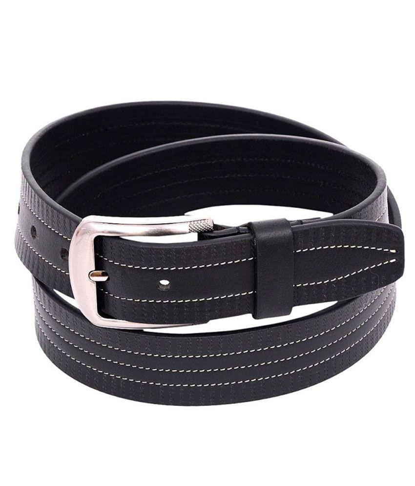 OHM Leather Black Formal Belt For Men